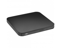 Ultra Slim Portable DVD-R Black Hitachi-LG GP90NB70, GP90NB70 Series, DVD Write /Read Speed: 8x, CD