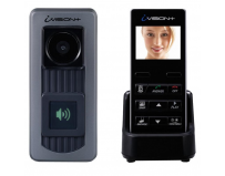Videointerfon Wireless OPTEX iVision, 1 canal video, 2 Audio, include unitate externa cu 1 buton fluorescent