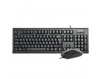 Kit tastatura + mouse A4tech KR-8520D, cu fir, negru, tastatura KR-85, Mouse OP-620D0B, ANTI-RSI, USB