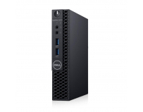 Desktop Dell OptiPlex 3070 MFF, Intel Core i5-9500T (6 Cores/9MB/6T/2.2GHz to 3.7GHz/35W); supports