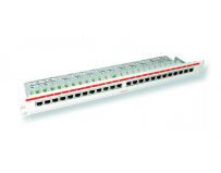 Patch panel Nexans LANmark-5 PCB populat 24 porturi neecranate Cat.5e 1U cu management cablu, top connect