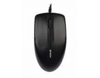 Mouse A4tech cu fir, optic, V-Track OP-530NU, 1000dpi, negru, Metal feet, USB