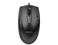 Mouse A4tech cu fir, optic, V-Track OP-540NU, 1000dpi, negru, Metal feet, USB