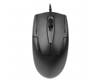 Mouse A4tech cu fir, optic, V-Track OP-550NU, 1000dpi, negru, Metal feet, USB