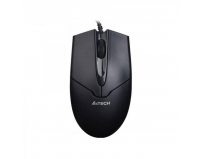 Mouse A4tech wired, optic, USB, OP-550NU-1, V-track Padless USB, metal feet, 1000 - 2000 dpi, black