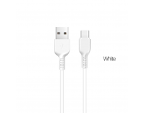 Hoco X20 Flash / Cablu date Usb to Type-C, Silicon, 2A, 1m, Alb