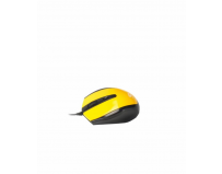 Mouse Serioux cu fir, optic, Pastel 3300, 1000dpi, galben, ambidextru, blister, USB