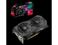 Placa video Asus AMD Radeon RX 570 OC Gamming, GDDR5 8GB, ROG-STRIX- RX570-4G-GAMING, Engine Clock: