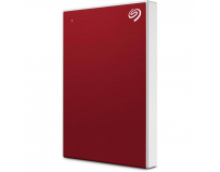 "HDD extern Seagate, 2TB, Backup Plus Slim, 2.5"", USB 3.0, Textura metalica, Rosu"