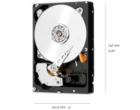 HDD intern WD, 3.5, 8TB, RED PRO, SATA 6GB/s, 7200rpm, 256MB
