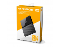 "HDD extern WD, 4Tb, My Book, 3.5"", USB 3.0, WD Backup software and Time , quick install guide, negru"