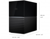 "HDD extern WD, 20TB, My Book Duo, 3,5"" USB 3.0, Negru"