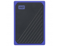 "SSD extern WD, My Passport Go, 1TB, 2.5"", USB 3.0, Read speed: up to 400MB/s, Rezistent la socuri, Bumper"