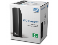 "HDD extern WD, 5TB, Elements, 3.5"", USB3.0, negru"