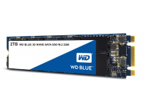 SSD WD, Blue, 2TB, M2 2280, SATA3, 6 GB/s, R/W speed: up to 560MBs/530MBs