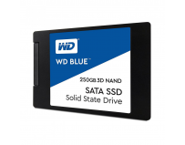 "SSD WD, 250GB, Blue, 2.5"", SATA 3.0, 3D NAND, R/W speed: 560/530MBs, 7mm"