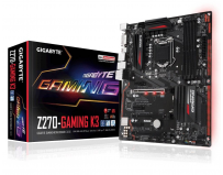 Placa de baza Gigabyte Socket LGA1151, Z270-Gaming K3, Z270, Integrated in CPU + PCI-E 3.0 x16, DX12,