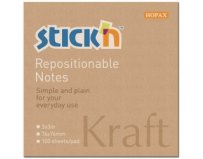 "Notes autoadeziv 76 x 76 mm, 100 file, Stick""n - kraft"