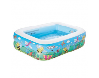 Piscina gonflabila cu 2 inele flowers and friends 132 x 94 x 36 cm