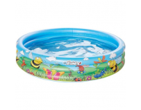 Piscina gonflabila cu 3 inele si imprimeu flower and friends, 100x23 cm