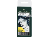 Pitt Artist Pen Soft Brush Set 6 Buc Faber Castell