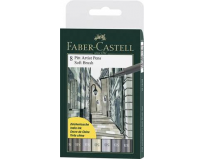 Set 8 markere Pitt Artist Pen Soft Brush Faber Castell