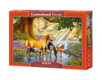Puzzle 1000 piese Horses By The Stream