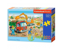 Puzzle 120 piese Construction Works - Castorland