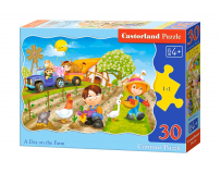 Puzzle 30 piese A day on the Farm