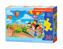 Puzzle 30 piese Balloon Ride over the Great Wall of China