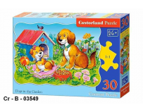 Puzzle 30 piese Dogs in the garden - Castorland