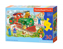 Puzzle 30 piese Green Locomotive