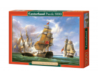 Puzzle 3000 piese Copy of Combat Between The French And English Vessels