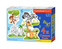 Puzzle 4 in 1 ( 3+4+6+9 ) African Animals - Castorland