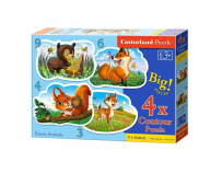 Puzzle 4 in 1 ( 3+4+6+9 ) Forest Animals - Castorland