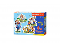 Puzzle 4 in 1 (3+4+6+9 piese) Snow White Story Castorland