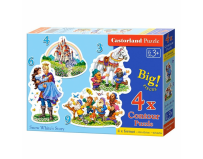 Puzzle 4 in 1 ( 3+4+6+9 ) Snow White Story - Castorland
