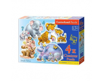 Puzzle 4 in 1 ( 4+5+6+7 ) Animals whit Babies - Castorland