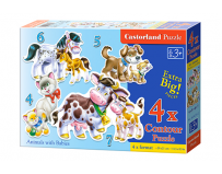 Puzzle 4 in 1 Animals with Babies Castorland