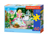 Puzzle 60 piese Princess with Swan