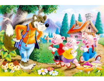 Puzzle 60 piese Three Little Pigs - Castorland