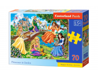 Puzzle 70 piese Princesses in Garden