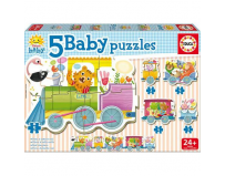 Puzzle baby animals train