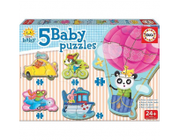 Puzzle baby driving animals 19 piese