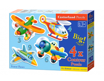 Puzzle Castorland 4 in 1 (3+4+6+9 piese) Avioane distractive