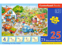 Puzzle educational Counting on the Farm