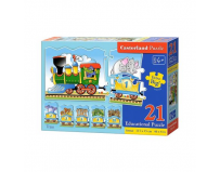 Puzzle educativ Train - Castorland