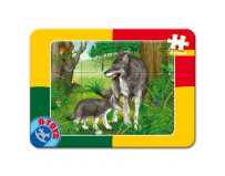 PUZZLE PLAN 12 PIESE ANIMALE D-TOYS