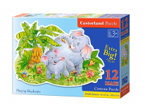 Puzzle Playing Elephants
