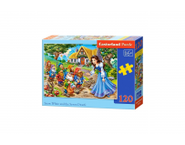 Puzzle120 piese Snow White and the Seven Dwarfs - Castorland